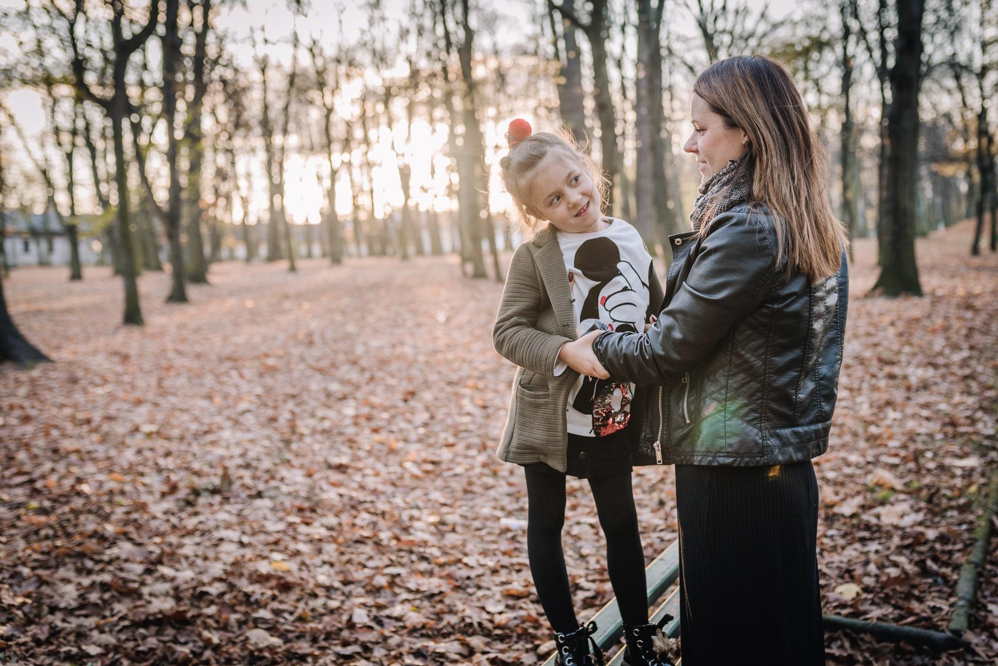 mama i córka naturalna fotografia