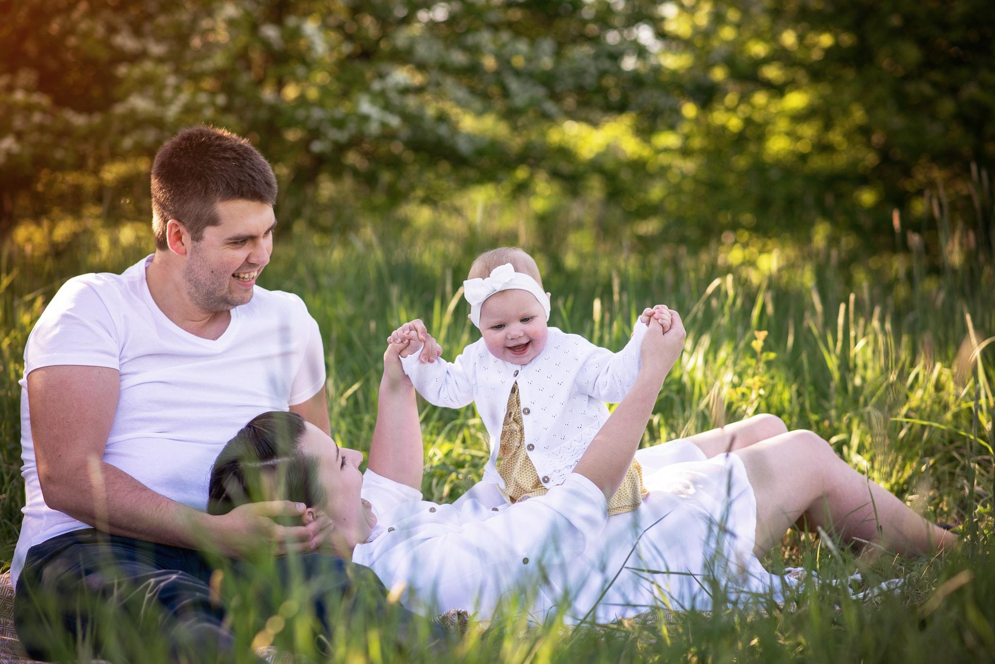 piknik w parku z niemowlakiem