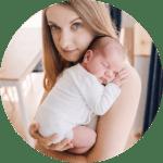 biały bodziak dla noworodka