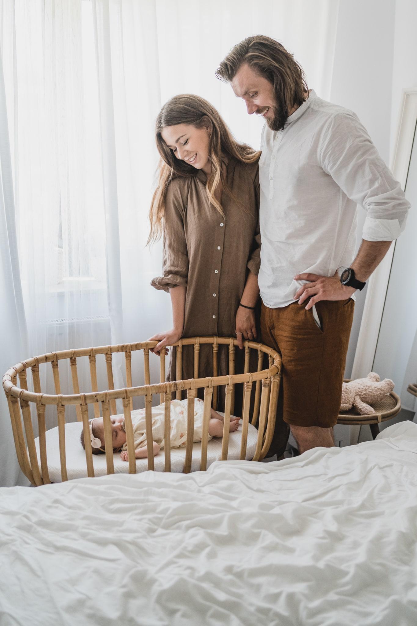 naturalna sesja noworodkowa w domu